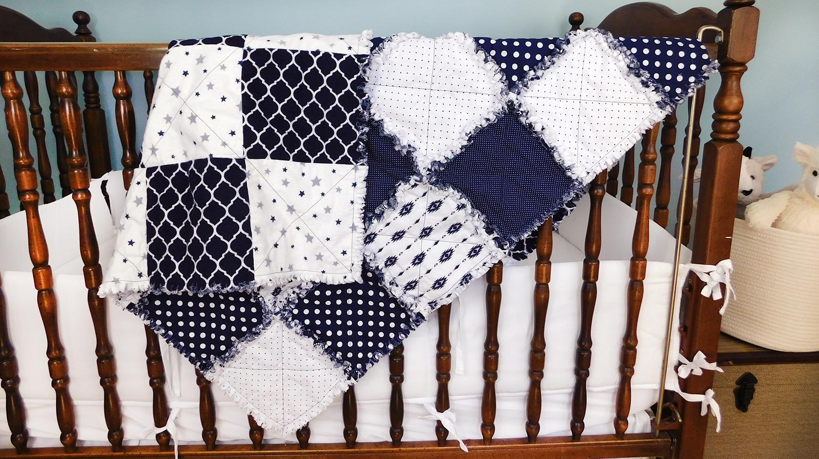 Navy Baby Blanket