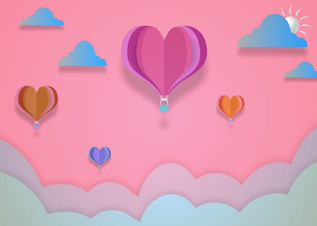 Valentine-hot-air-balloons